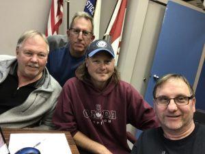 L to R :Jim Heintz (LL741), Mike Maskell (LL714), Neal Schultz (LL608), Rennie Saj .(LL1953)